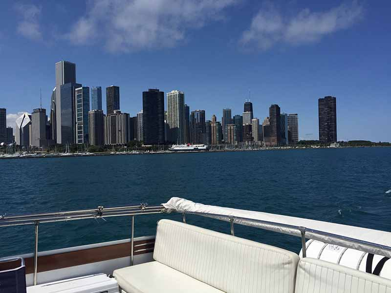 Chicago Private Yacht Rentals Flybridge Highest Deck