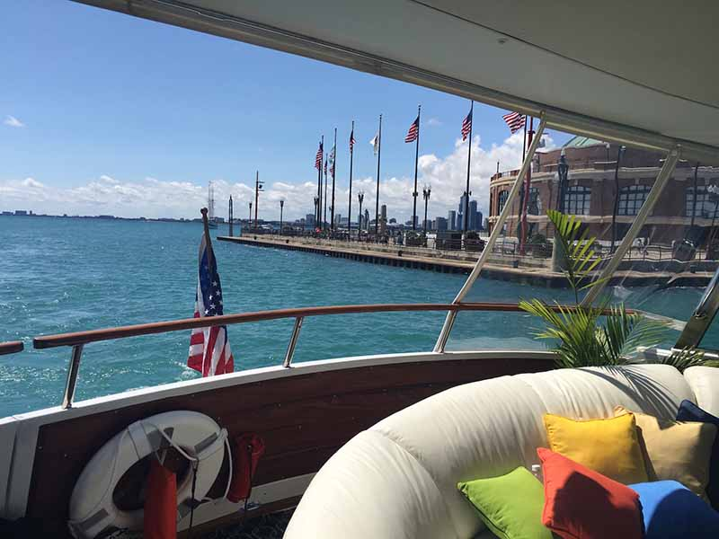 Chicago Private Yacht Rentals Lounge Open Chicago
