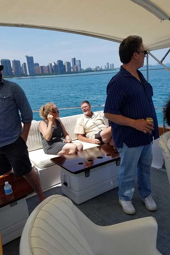 Fundraisers on Yacht
