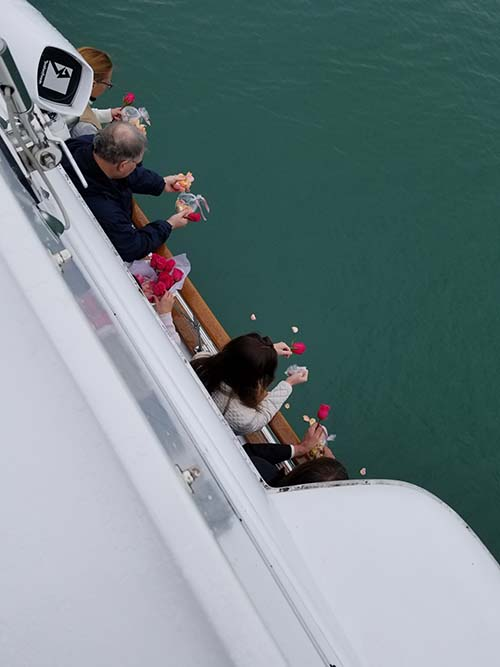 Scattering Ashes on Lake Michigan Chicago Private Yacht Rentals