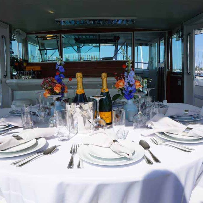 Chicago Private Yacht Rentals dinner charters