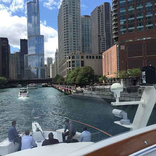 Chicago Private Yacht Rentals private river tour charter