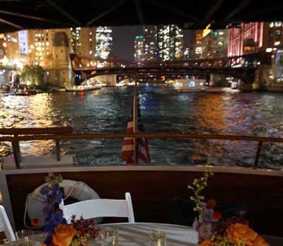 Chicago private yacht rental charter private dining