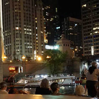 Chicago private yacht rental for Chicago Architectural River and Lakefront Tours
