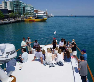 Chicago private yacht rental for business outings