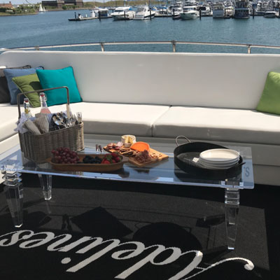 Chicago private yacht rental for dockside entertainment and entertaining