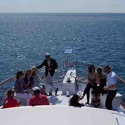 Chicago private yacht rental for lake crossing cruises and casino charters