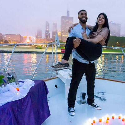 Chicago private yacht rental for marriage proposals