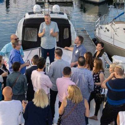 Chicago private yacht rental for non profit charity fund raising and networking