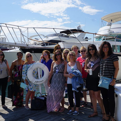 Chicago private yacht rental for trade show convention hospitality entertainment