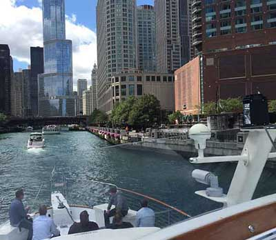 Chicago private yacht rental to impress clients