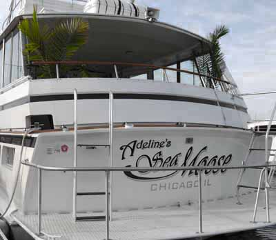Chicago private yacht rentals Adelines Sea Moose charter