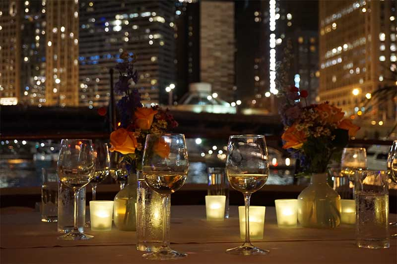 Chicago Private Yacht Rentals Private Chicago Dinner Cruises on Chicago River