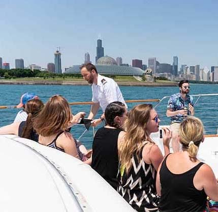 Abundance of privacy and pampering Chicago Private Yacht Rentals
