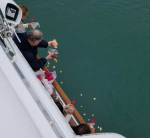 Scattering of ashes on Lake Michigan