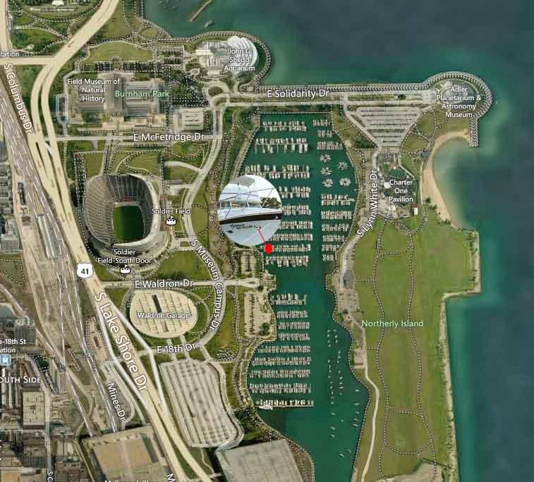 Chicago Private Yachts Rentals Adeline's Sea Moose Burnham Harbor Chicago IL