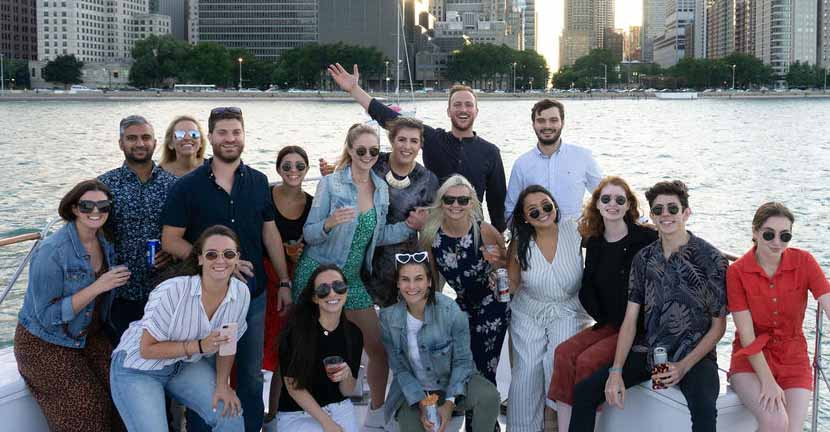 Chicago private yacht rental for an employee reward