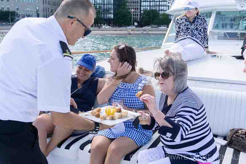 Chicago private yacht rentals first rate services and crew