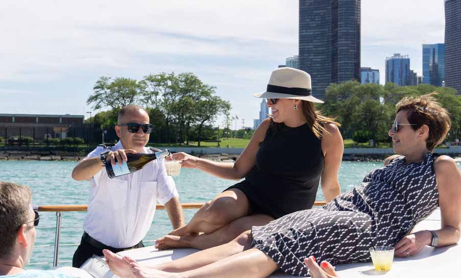 Chicago private yacht rentals first rate services