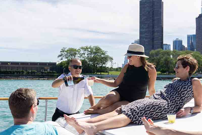Chicago private yacht rentals for celebrations and celebrities