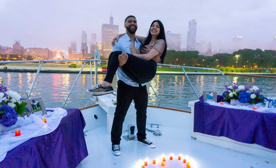 Chicago private yacht rentals for marriage proposals