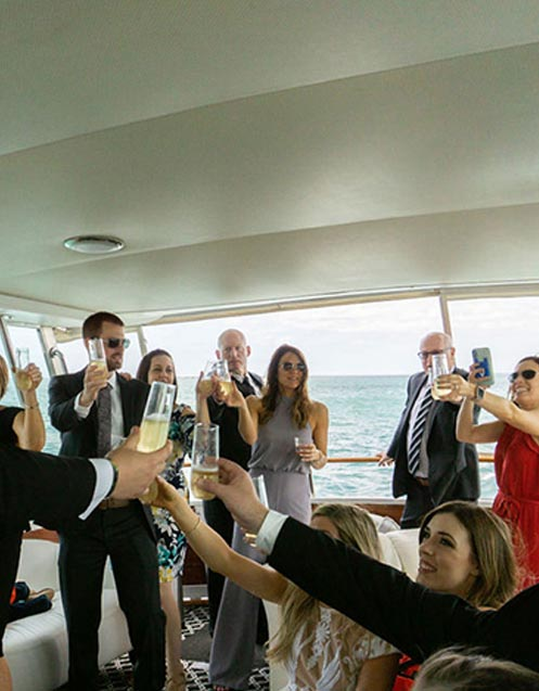 Chicago private yacht rentals for wedding reception venue