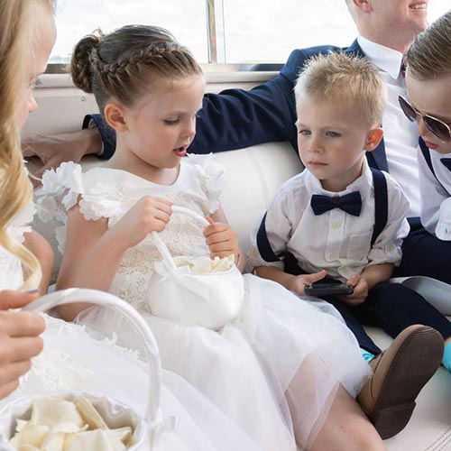 Chicago private yacht rentals for weddings with children