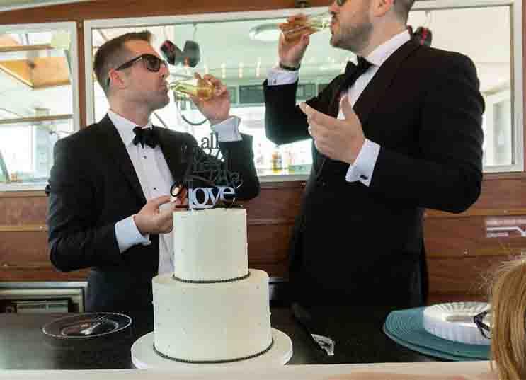 Chicago Private Yacht Rentals wedding reception