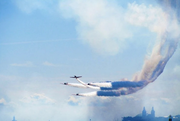 Chicago Air and Water Show viewing