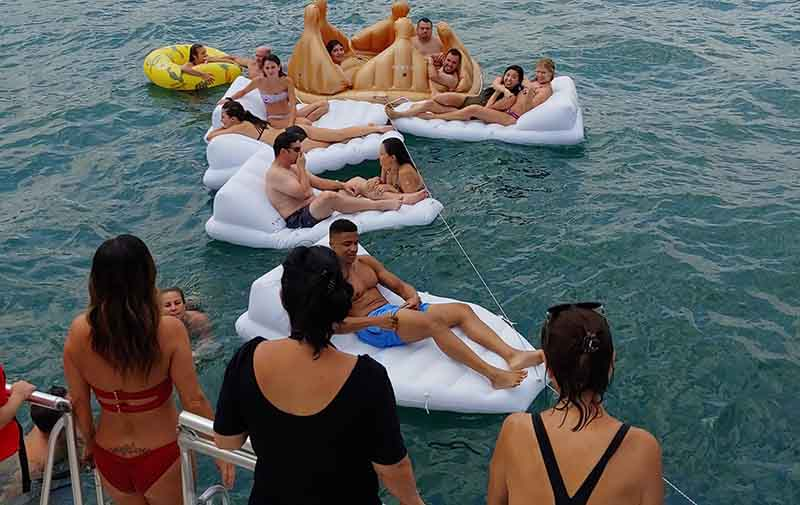 Private yacht swimming packages