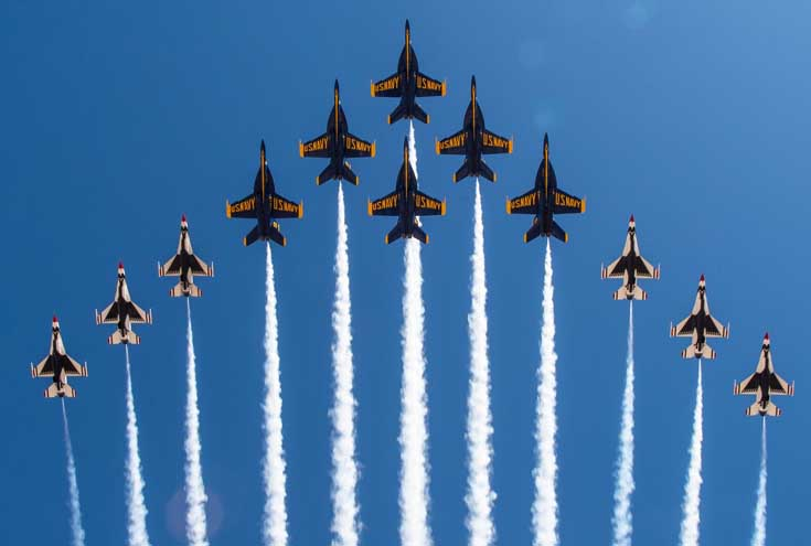 US Navy Blue Angels most popular headliners