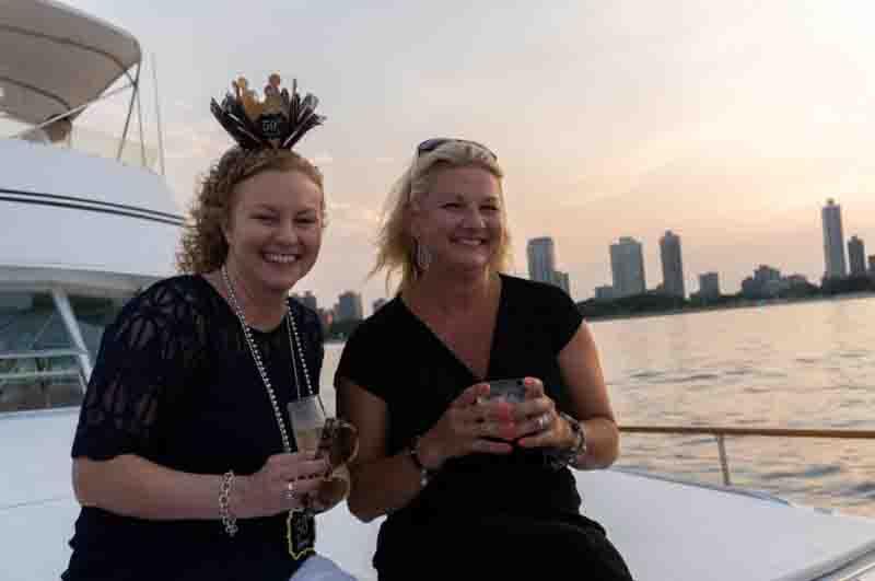 sunset booze cruise Chicago