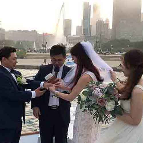 Chicago private yacht rentals wedding ceremonies and receptions