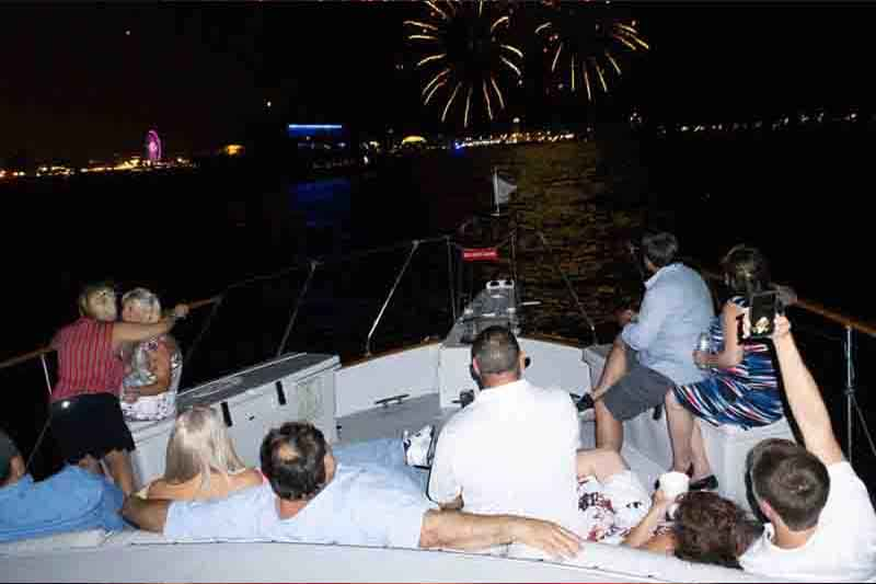 Navy Pier Fall Fireworks Shows Yacht Charters