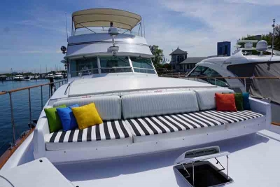 Chicago Private Yacht Rentals  Main - Bow Seating and Social Area 1