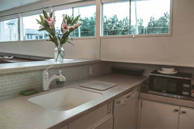 Chicago Private Yacht Rentals  Modern Galley (Kitchen)